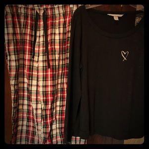 Victoria's Secret pajamas size large. Barely worn